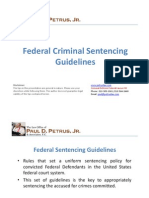 Federal Criminal Sentencing Guidelines