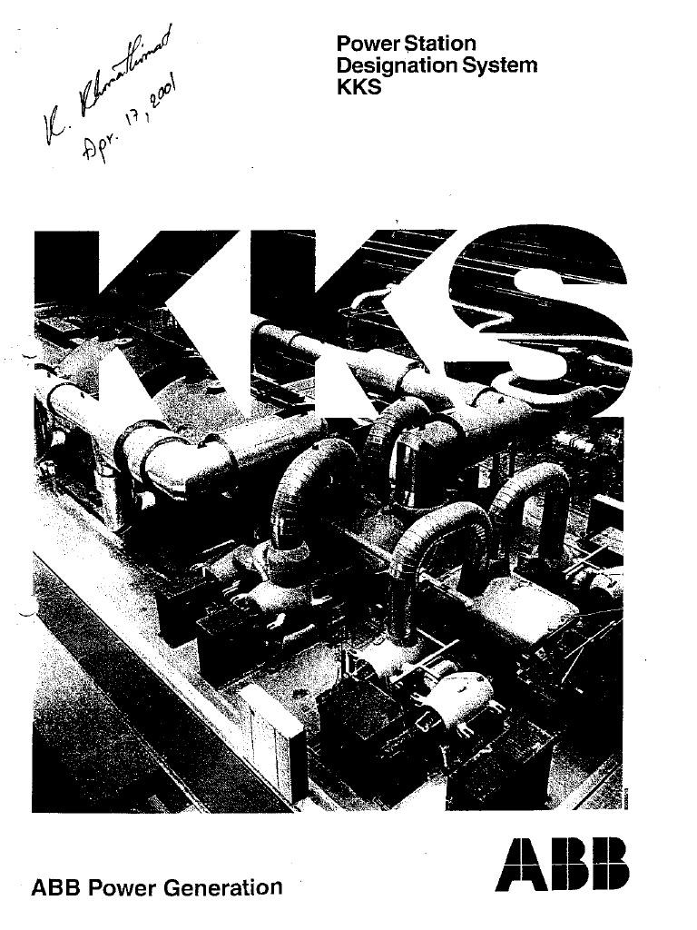 power station designation system kks