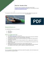 Flexibility And Agility Test
