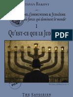 Bakony Itsvan - 1/7 Qu'est-ce que le Judaïsme