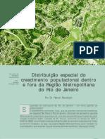 Distribuição espacial do crescimento populacional dentro e fora da Região Metropolitana do Rio de Janeiro