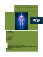 Homeopathy for Joint Pains