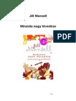Jill Mansell Miranda Nagy Tevedese