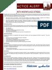 143 Bsu Best Practice Alert - Dealing With Workplace Stress