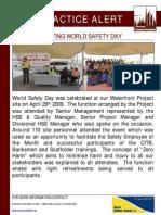 72 Bsu Best Practice Alert - Celebrating World Safety Day
