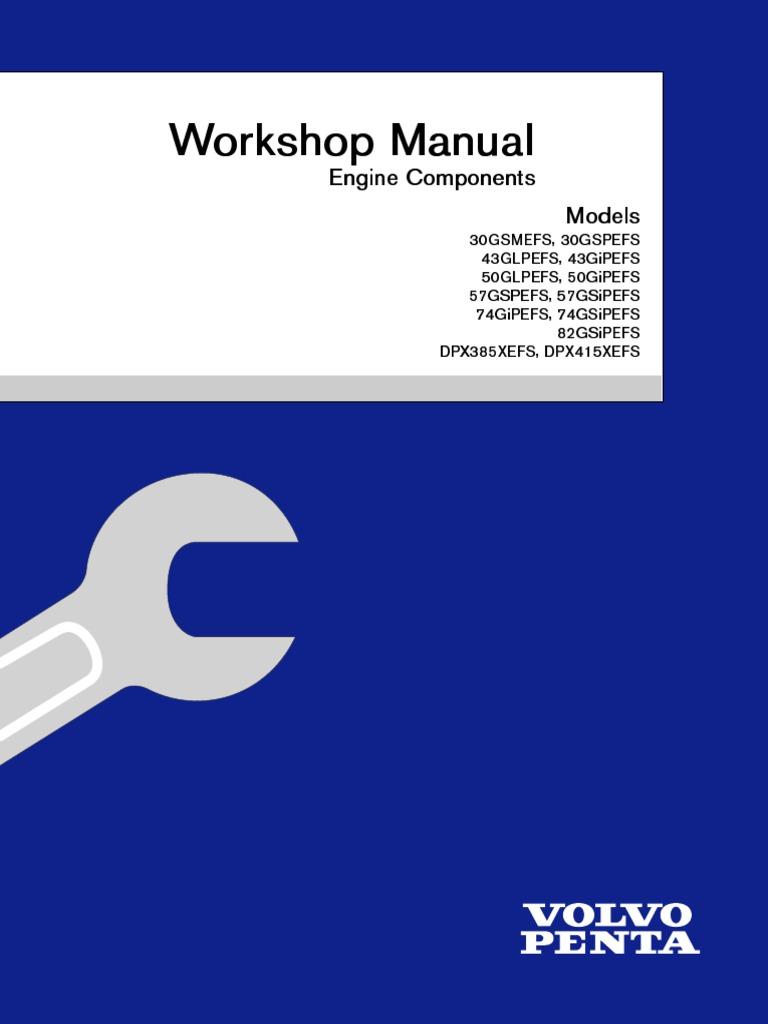 workshop manual engine components ignition system motor oil rh scribd com volvo penta repair manual pdf volvo penta tmd22 service manual