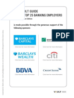 VAULT Top 25 Banking Employers