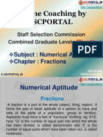 Online Coaching SSC CGL Tier 1 Numerical Aptitude Fractions