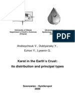 Karst in the Earth's Crust: its distribution and principal types