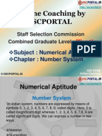 Online Coaching SSC CGL Tier 1 Numerical Aptitude Number System