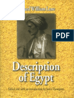 Description of Egypt Notes and Views in Egypt and Nubia by Edward William Lane