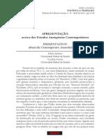 Apresentaçao acerca dos Estudos Anarquistas Contemporâneos