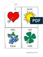 Flashcards Colors French