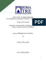 Il Polo Ceramico Di Civita Castellana  Distretti Industriali e Sviluppo Locale