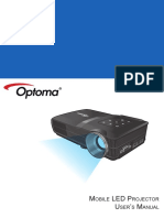 Manual Optoma Ml300