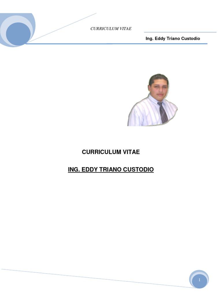 Curriculum Vitae Ing.eddy Tc