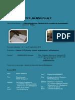 Evaluation Finale  - La Sensibilisation des Électeurs sur le Processus de Recensement à travers les Médias (ALT, SFCG - 2013)