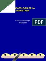 FISIOPATOLOGIA - Fisiopatologia de La Hemostasia
