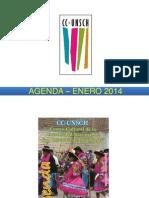 - AGENDA – ENERO  2014