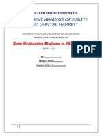 Investment Analysis of Equity Based Capital Market -Saumya
