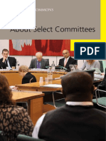 Easy Read Select Committees