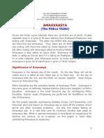 AMAAVAASYA - THE PITHRU THITHI