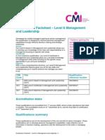 Level 6 ManagementLeadership ACD FactSheet
