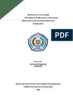 Proposal Sistem Informasi Pembayaran Siswa pada SDN Lojiwetan Surakarta