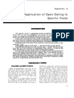 Application of Open Dating to Specific Foods