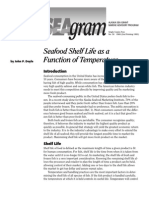 Seafood Shelf Life as a Function of Temperature