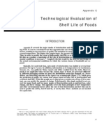 Technological Evaluation of Self Life of Foods