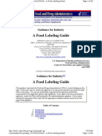 A Food Labeling Guide