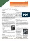 Process and Facility Sanitation