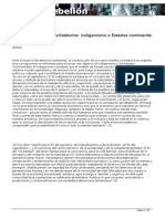 Andrés Soliz Rada - Pugna de modelos civilizatorios. Indigenismo o Estados continente