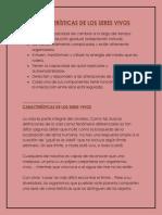 Características de los organismos vivos