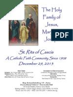 St. Rita Parish Bulletin 12/29/2013
