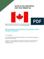 Dois Je Avoir Une Assurance Etudiante Avant de Partir Au Canada