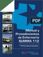 manual y procedimientos de enfermería summa 112 2012