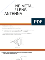 H-plane Metal Plate Lens Antenna