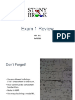 SBU CHE 321 Exam 1 F13 Review Slides