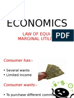 Law of Equimaginal Utility