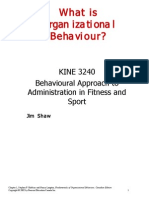 What is Organizational Behaviour