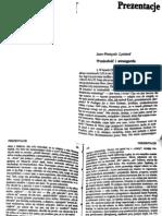 Lyotard - Wzniosłość i awangarda ok