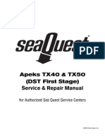 Apeks TX50-40 1st Stage Service Manual