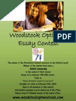 Woodstock Essay Contest 2014