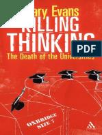 Killing Thinking (Evans)[2004]