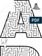 Printable Mazes Alphabet