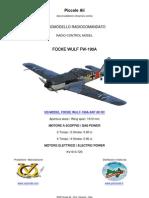 VA MODEL FOCKE WULF FW-190A RC ARF CLASSE 60