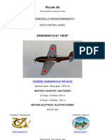VQ MODEL KAWASAKI KI-61 HEIN RC ARF CLASSE 60
