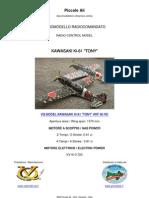"VQ MODEL KAWASAKI KI-61 ""TONY"" ARF RC CLASSE 60"